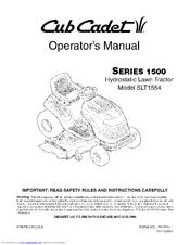 CUB CADET SERIES 1500 SLT1554 OPERATOR'S MANUAL Pdf Download