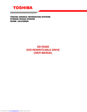 Toshiba SD-R5002 User Manual
