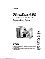 CANON POWERSHOT A80 SOFTWARE WINDOWS 10 DRIVER