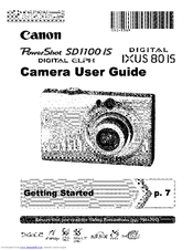 CANON Digital ELPH User Manual