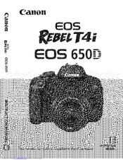 Canon eos 650d camera download instruction manual pdf.
