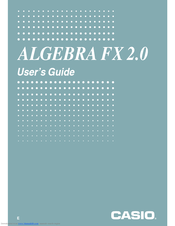 Casio Algebra fx 2.0 User Manual