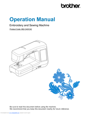 "Brother DreamWeaver"" XE VM6200D Operation Manual"