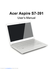 acer aspire v5 manuals