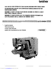 Brother LK3-B484 Parts Manual