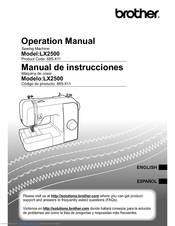 Brother 885-X21 Operation Manual