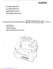 Brother MD-602 Parts Manual