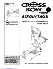 Weider cross bow user manual pdf download.