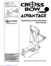 Weider crossbar advantage 15396 hsn user's manual | manualzz.