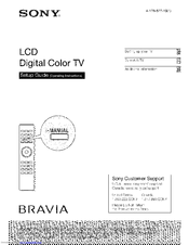 sony kdl 52ex700 bravia ex series lcd television manuals rh manualslib com Sony KDL- 55W802A Sony KDL 42Ex440