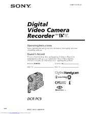 sony handycam dcr pc9 manuals rh manualslib com sony handycam avchd user manual sony handycam user manual