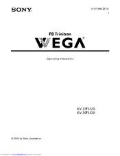 SONY KV-32FS120 - FD Trinitron WEGA Flat-Screen CRT TV Operating Instructions Manual
