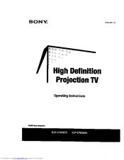 Sony Kdp-57ws655 Service Manual