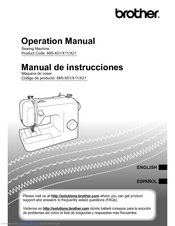 Brother 885-X01 Operation Manual
