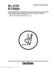 Brother S-7550A Instruction Manual