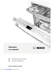 Bosch SHE53T52UC Operating Instructions Manual