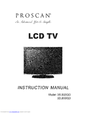 proscan 26lb30qd instruction manual pdf download rh manualslib com
