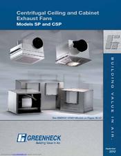 Greenheck Sp Manuals