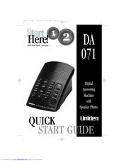 uniden da071 manuals rh manualslib com Uniden DECT1363 Uniden DECT1363