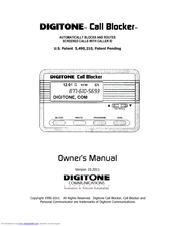 Digitone Call Blocker Owner's Manual