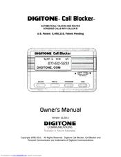 Digitone Call Blocker Owner's Manual