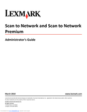 Lexmark X864 Administrator's Manual