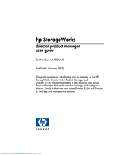 HP StorageWorks 2/140 - Director Switch Product Manager Manual