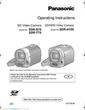 panasonic sdr h100 manuals rh manualslib com Panasonic NV-GS180 Battery USA Panasonic NV-GS180 Battery USA