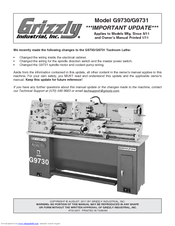 Grizzly G9730 Owner's Manual