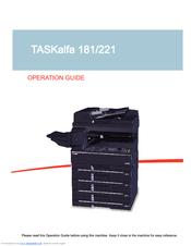 Taskalfa 181 сервис мануал