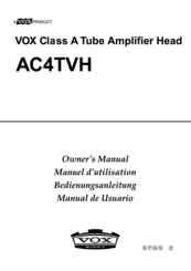 vox owners manual