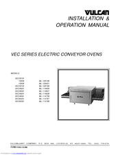 Vulcan-Hart VEC3624 ML-114836 Installation & Operation Manual