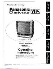 panasonic omnivision vhs pv m2046 operating instructions manual pdf rh manualslib com Amazon Panasonic TV VCR Combo Samsung DVD VCR Combo Troubleshooting