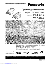 Panasonic pv-gs120 camcorder user manual: panasonic: free.