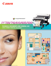 Canon imagePROGRAF iPF710 with Colortrac Scanning System Brochure & Specs