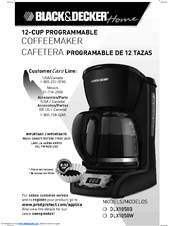black and decker coffee maker manual