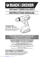 BLACK & DECKER LD120CBF Instruction Manual