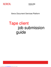 Xerox 701P21110 Guide Manual
