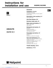 hotpoint aqualtis aqlf9d 69 u instructions for installation and use rh manualslib com hotpoint aqualtis notice hotpoint ariston aqualtis aqm9d49u manual