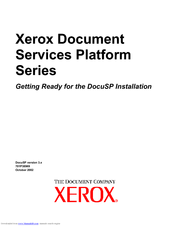 Xerox DocuSP 3.x Getting Started Manual