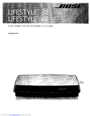 download manual bose lifestyle 48