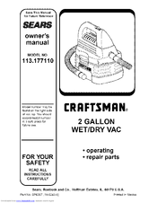 CRAFTSMAN 113.177110 Owner's Manual