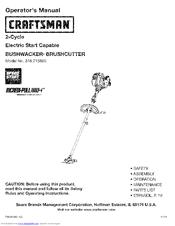 craftsman speed start 316 715860 operator s manual pdf download rh manualslib com Craftsman Weed Wacker Manual Craftsman Weed Wacker Repair Manual