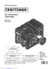 CRAFTSMAN 580.323602 Owner's Manual
