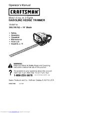 craftsman 358 795792 manuals rh manualslib com Craftsman Weed Trimmer Craftsman 22 Weed Trimmer Manual