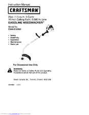 craftsman c944 514360 instruction manual pdf download rh manualslib com Craftsman Electric Corded Grass Trimmers Craftsman Corded Trimmer 12-Inch