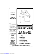 CRAFTSMAN 113.176110 Owner's Manual