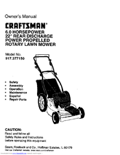 CRAFTSMAN 917.377150 Owner's Manual