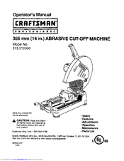 CRAFTSMAN 315.212900 Operator's Manual