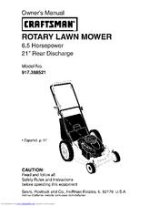 craftsman 917 388521 owner s manual pdf download rh manualslib com craftsman lawn mower manual pdf craftsman lawn mower manual 277270